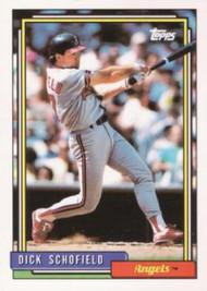 1992 Topps #230 Dick Schofield VG California Angels
