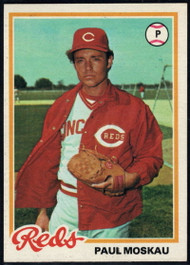 1978 Topps #126 Paul Moskau COND RC Rookie Cincinnati Reds
