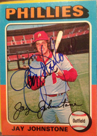 SOLD 1712 Jay Johnstone Autographed 1975 Topps #242