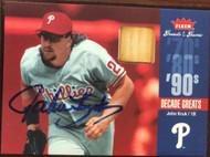 John Kruk Autographed 2006 Fleer Greats of the Game Decade Greats Memorabilia (Bat) #DEC-JK