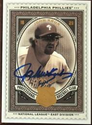 John Kruk Autographed 2009 SP Legendary Cuts #127 LE/550