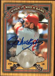 John Kruk Autographed 2006 SP Legendary Cuts - When it was a Game LE/550