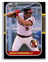 1987 Donruss #86 Brian Downing VG California Angels