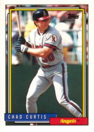 1992 Topps Traded #25T Chad Curtis VG RC Rookie California Angels