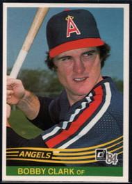 1984 Donruss #524 Bobby Clark VG California Angels