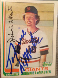 Johnnie LeMaster Autographed 1982 Topps #304
