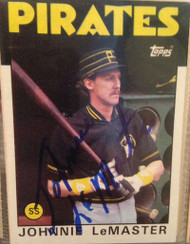 Johnnie LeMaster Autographed 1986 Topps #289