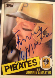 Johnnie LeMaster Autographed 1985 Topps Traded Tiffany #74T