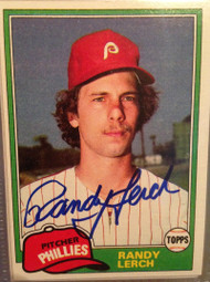 Randy Lerch Autographed 1981 Topps #584
