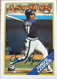 Davey Lopes Autographed 1988 Topps #226