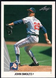 1990 Leaf #59 John Smoltz VG Atlanta Braves