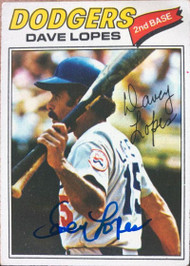 Davey Lopes Autographed 1977 Topps #180