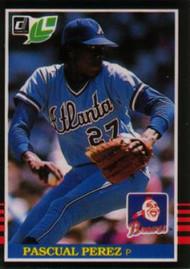 1985 Donruss/Leaf #55 Pascual Perez VG Atlanta Braves