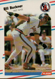 1988 Fleer #486 Bill Buckner VG California Angels