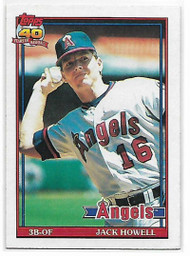 1991 Topps #57 Jack Howell VG California Angels