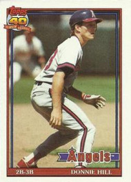 1991 Topps #36 Donnie Hill VG California Angels