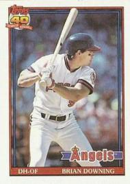 1991 Topps #255 Brian Downing VG California Angels