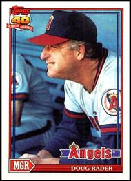 1991 Topps #231 Doug Rader MG VG California Angels