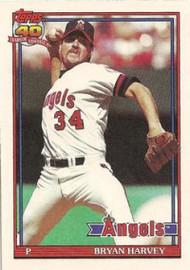 1991 Topps #153 Bryan Harvey VG California Angels