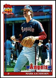 1991 Topps #129 Mark Eichhorn VG California Angels