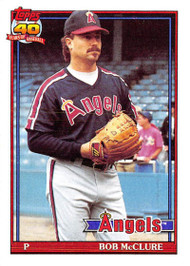1991 Topps #84 Bob McClure VG California Angels
