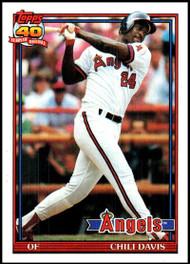 1991 Topps #355 Chili Davis VG California Angels