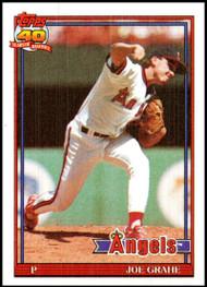 1991 Topps #426 Joe Grahe VG RC Rookie California Angels