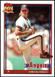1991 Topps #505 Chuck Finley VG California Angels