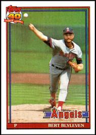 1991 Topps #615 Bert Blyleven VG California Angels