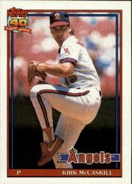 1991 Topps #532 Kirk McCaskill VG California Angels