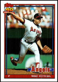 1991 Topps #477 Mike Fetters VG California Angels