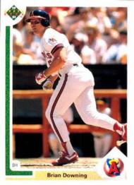 1991 Upper Deck #231b Brian Downing COR VG California Angels