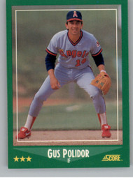 1988 Score #341 Gus Polidor VG California Angels