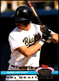1992 Stadium Club Dome #142 Chris Pritchett VG RC Rookie California Angels