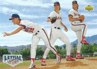 1993 Upper Deck #53 Lethal Lefties Mark Langston/Jim Abbott/Chuck Finley VG California Angels