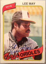 Lee May Autographed 1980 Topps #490