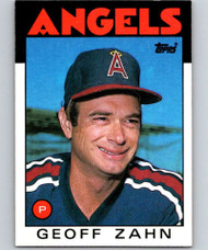 1986 Topps #42 Geoff Zahn VG California Angels