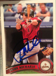 Jason Michaels Autographed 2011 Topps Team Set #HOU12