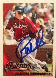 Jason Michaels Autographed 2010 Topps Team Set #HOU15