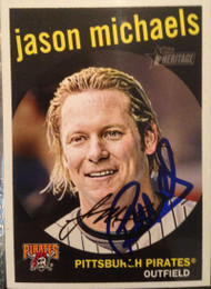 Jason Michaels Autographed 2008 Topps Heritage #666