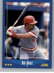 1988 Score #206 Bo Diaz VG Cincinnati Reds