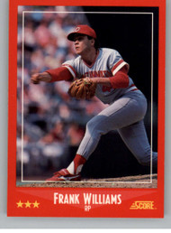 1988 Score #317 Frank Williams VG Cincinnati Reds