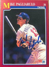 Mike Pagliarulo Autographed 1991 Score Rookie/Traded #42T
