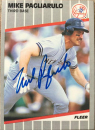 Mike Pagliarulo Autographed 1989 Fleer #262