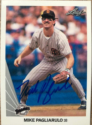 SOLD 47392 Mike Pagliarulo Autographed 1990 Leaf #320