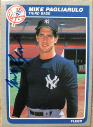 Mike Pagliarulo Autographed 1985 Fleer #139 Rookie Card