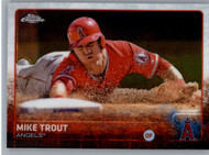 2015 Topps Chrome #51 Mike Trout VG Los Angeles Angels