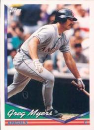 1994 Topps #171 Greg Myers VG California Angels