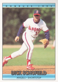 1992 Donruss #44 Dick Schofield VG California Angels