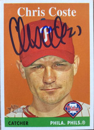 Chris Coste Autographed 2007 Topps Heritage #271